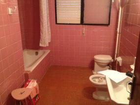 Estado inicial del baño.